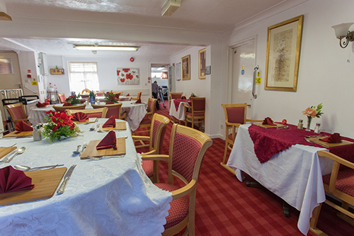 Dining in style at Oak Mount Care Home